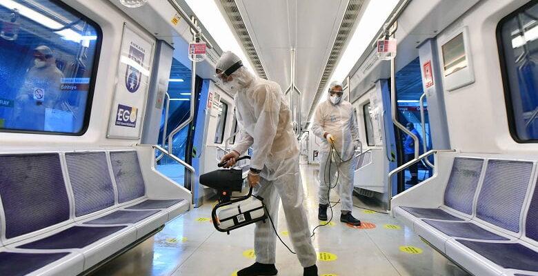 Büyükşehir'den toplu taşımada dezenfeksiyon çalışması