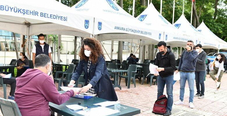 Ankara Zabıtası'nın memur alımı başvurularına yoğun ilgi