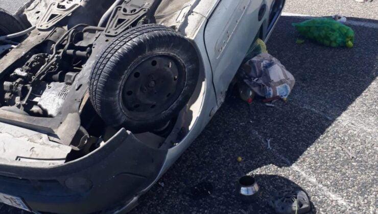 Adıyaman'da araç kontrolden çıktı: 2 yaralı