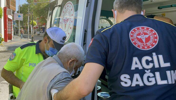 Adıyaman'da yere yığılan yaşlı adamın imdadına polisler yetişti