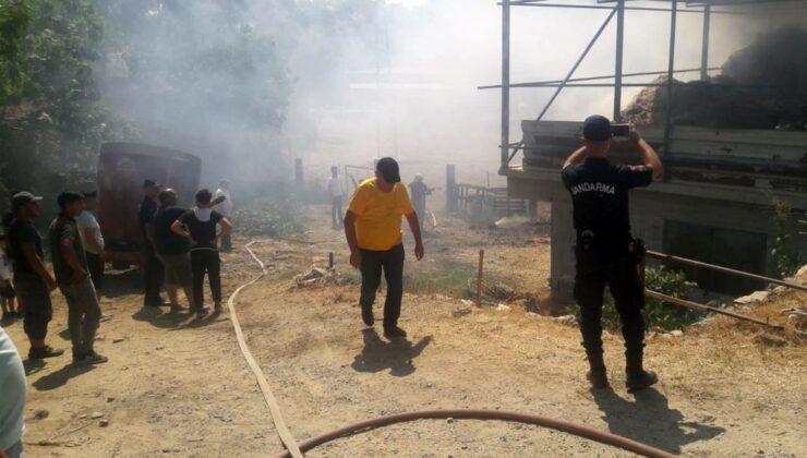 Aydın Efeler'de samanlık yangını