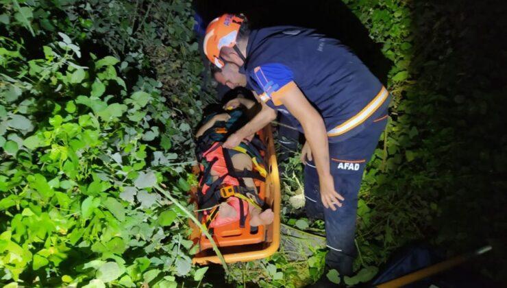 Aydın'da genç bir kız uçurumdan düştü, ekipler zor şartlarda kahramanlık sergiledi