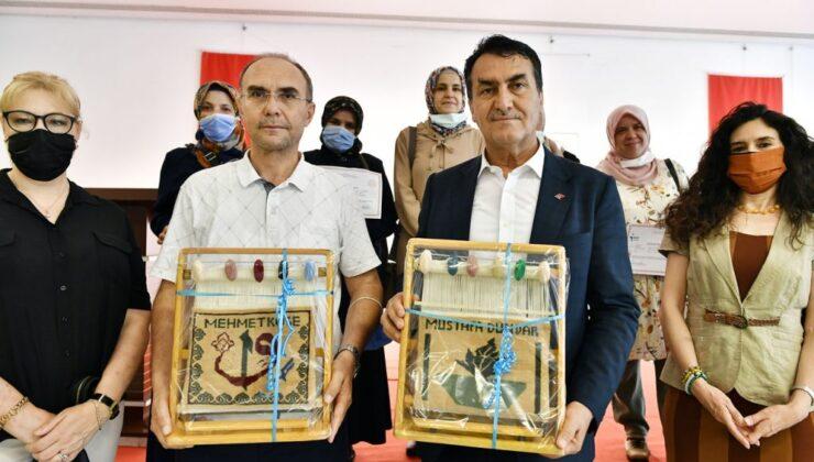 Bursa Osmangazi'de halıcılık kursiyerleri sertifikalandı