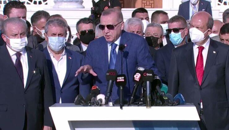 Erdoğan, mesajlarını Lefkoşa'dan verdi
