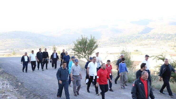 Kayseri'de sağlıklı yaşam yürüyüşü