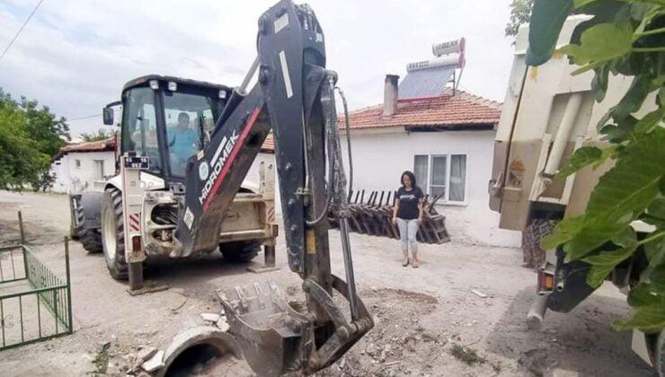 Manisa Akhisar'da dere temizlik çalışması