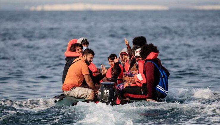 Manş Denizi'nden İngiltere'ye rekor mülteci