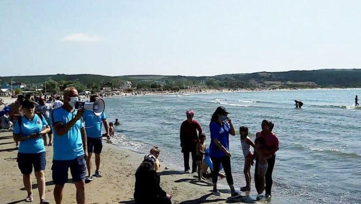 Mudanya Eşkel sahillerinde 'tedbiren' deniz yasağı