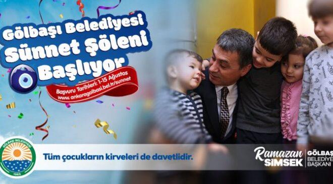 Gölbaşı Belediyesi 200 çocuğu sünnet edecek