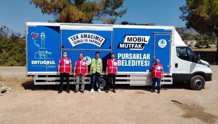 Pursaklar Belediyesi Mobil Aşevi Osmaniye Halkının Hizmetinde