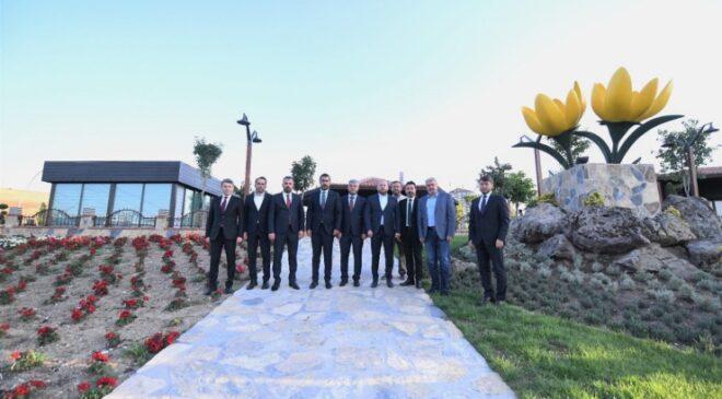 Başkan Ertuğrul Çetin ve Ak Parti Ankara İl Başkanı Hakan Han Özcan Pursaklar'daki Yatırımları Gezdi