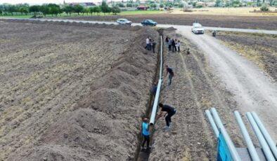 Büyükşehir çiftçinin yanında: Kurak tarım arazileri suya kavuşuyor