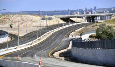 Etimesgut'ta yeni bağlantı yolu trafiğe açıldı