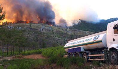 Bursa Osmangazi ekipleri yangın bölgesinde