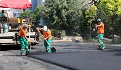 Çankaya'da asfalt sezonu tam gaz devam ediyor