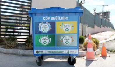 """Çankaya'da """"Sıfır Atık""""a konteyner desteği"""
