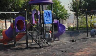 Pursaklar'da Parklar Yenileniyor