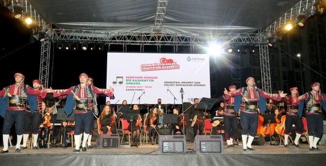 Başkente söyleşi ve senfonik konserli kutlama