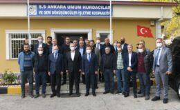Mansur Yavaş Hurdacılar Sanayi Sitesini ziyaret etti