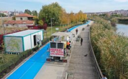 Ankara mavi yol ile örülüyor: Şehir içi bisiklet yolu çalışmaları başladı