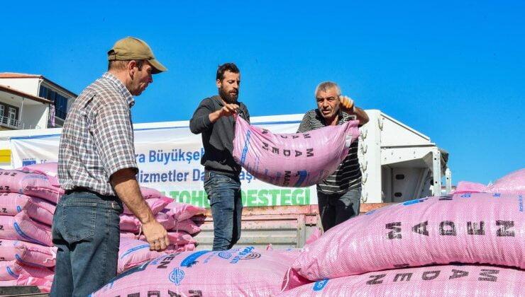 Büyükşehir'den arpa ve buğday tohumu desteği başladı