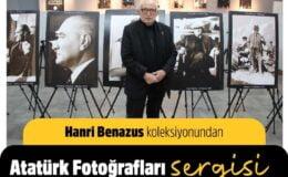 """İzmir Gaziemir' de Hanri Benazus'tan """"Atatürk"""" sergisi"""